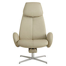 Buy Fjords motionconcept Imola High Leather Recliner Armchair with Chrome Base, Light Grey Online at johnlewis.com
