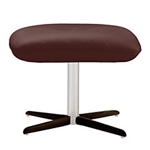 Buy Fjords motionconcept Ascari Leather Footstool with Espresso Base Online at johnlewis.com