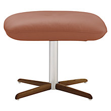Buy Fjords motionconcept Ascari Leather Footstool with Nature Base Online at johnlewis.com