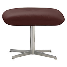 Buy Fjords motionconcept Imola Leather Footstool with Chrome Base Online at johnlewis.com