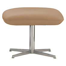 Buy Fjords motionconcept Ascari Leather Footstool with Chrome Base Online at johnlewis.com