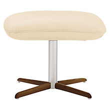 Buy Fjords motionconcept Bordini Leather Footstool with Nature Base Online at johnlewis.com