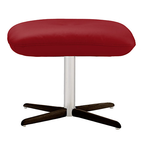 Buy Fjords motionconcept Tazio Leather Footstool with Espresso Base Online at johnlewis.com