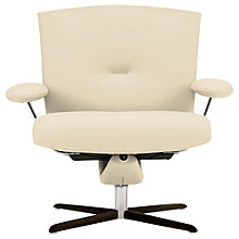 Buy Fjords motionconcept Ascari Low Leather Recliner Armchair with Espresso Base Online at johnlewis.com