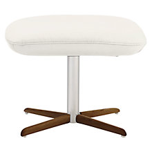 Buy Fjords motionconcept Tazio Leather Footstool with Nature Base Online at johnlewis.com