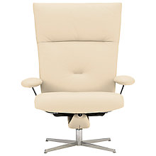 Buy Fjords motionconcept Ascari High Leather Recliner Armchair with Espresso Base Online at johnlewis.com