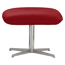 Buy Fjords motionconcept Tazio Leather Footstool with Chrome Base Online at johnlewis.com