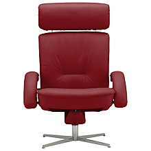 Buy Fjords motionconcept Bordini High Leather Recliner Armchair with Chrome Base Online at johnlewis.com