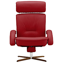 Buy Fjords motionconcept Bordini High Leather Recliner Armchair with Nature Base Online at johnlewis.com