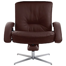 Buy Fjords motionconcept Bordini Low Leather Recliner Armchair with Chrome Base Online at johnlewis.com