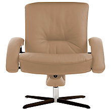 Buy Fjords motionconcept Bordini Low Leather Recliner Armchair with Espresso Base Online at johnlewis.com