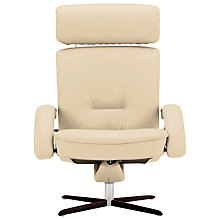 Buy Fjords motionconcept Bordini High Leather Recliner Armchair with Espresso Base Online at johnlewis.com