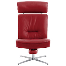 Buy Fjords motionconcept Bordini High Leather Recliner Chair with Chrome Base Online at johnlewis.com