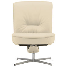 Buy Fjords motionconcept Bordini Low Leather Recliner Chair with Chrome Base Online at johnlewis.com