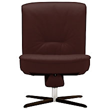 Buy Fjords motionconcept Bordini Low Leather Recliner Chair with Espresso Base Online at johnlewis.com