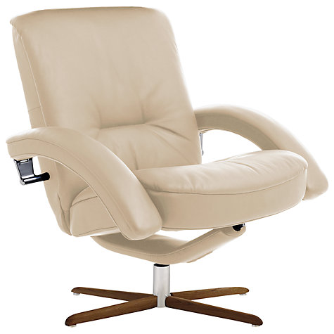 Buy Fjords motionconcept Bordini Low Leather Recliner Armchair with Nature Base Online at johnlewis.com