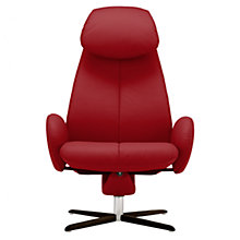 Buy Fjords motionconcept Imola High Leather Recliner Armchair with Chrome Base Online at johnlewis.com
