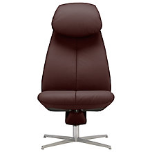 Buy Fjords motionconcept Imola High Leather Recliner Chair with Chrome Base Online at johnlewis.com