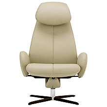 Buy Fjords motionconcept Imola High Leather Recliner Armchair with Espresso Base Online at johnlewis.com