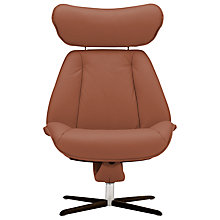 Buy Fjords motionconcept Tazio High Leather Recliner Chair with Espresso Base Online at johnlewis.com