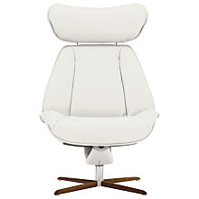 Buy Fjords motionconcept Tazio High Leather Recliner Chair with Natural Base Online at johnlewis.com