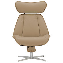 Buy Fjords motionconcept Tazio High Leather Recliner Armchair with Chrome Base Online at johnlewis.com