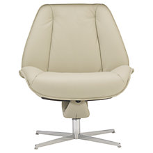 Buy Fjords motionconcept Tazio Low Leather Recliner Chair with Chrome Base Online at johnlewis.com