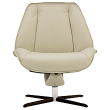 Buy Fjords motionconcept Tazio Low Leather Recliner Chair with Espresso Base Online at johnlewis.com