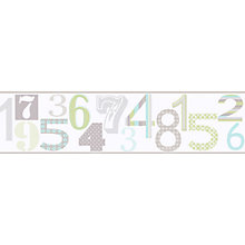 Buy Galerie Jumbled Numbers Wallpaper Border Online at johnlewis.com