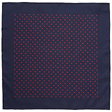 Buy John Lewis Silk Dot Print Pocket Square Online at johnlewis.com