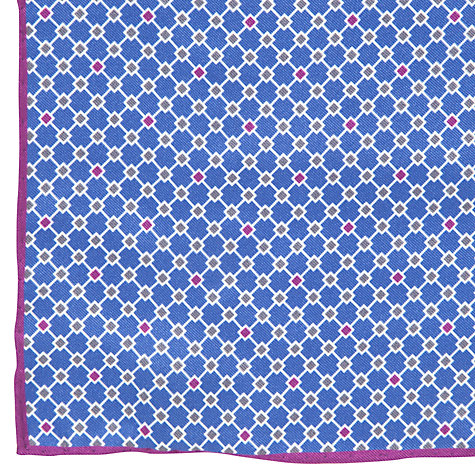 Buy John Lewis Mini Diamond Print Pocket Square Online at johnlewis.com