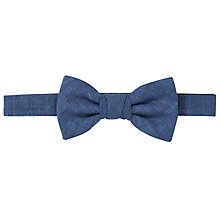 Buy John Lewis Linen Spot Print Bow Tie, Brown/White Online at johnlewis.com