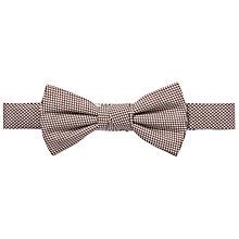 Buy John Lewis Mini Dot Bow Tie, Brown Online at johnlewis.com