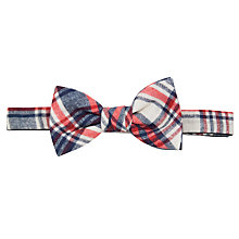 Buy John Lewis Linen Bow Tie, Blue Online at johnlewis.com