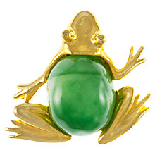 Buy Eclectica 1980s KJL Gold Plated Frog Brooch Online at johnlewis.com