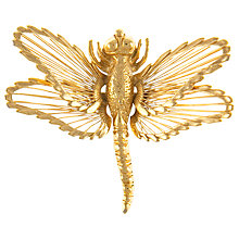 Buy Eclectica 1970s Monet Gold Plated Dragonfly Brooch Online at johnlewis.com