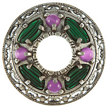 Buy Eclectica 1960s Miracle Silver Plated Faux Agate Circular Brooch Online at johnlewis.com