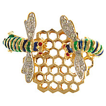 Buy Eclectica 1960s Gold Plated Enamel Bee Brooch Online at johnlewis.com