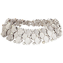Buy Susan Caplan Vintage 1960s Trifari Scalloped Crystal Bracelet, Silver Online at johnlewis.com