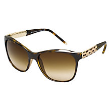Buy Bvlgari BV8104 Serpenti Square Framed Acetate Sunglasses, Dark Havana Online at johnlewis.com