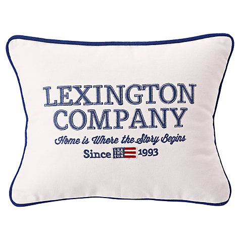 Buy Lexington The Spring Collection 'Home is Where the Story Begins' Sham Cushion Cover and Pad Online at johnlewis.com