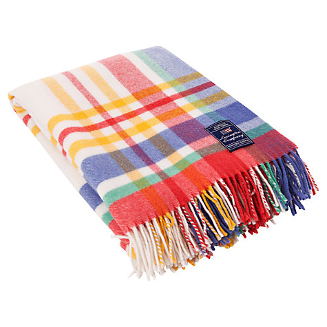 Buy Lexington The Spring Collection Multi Check Throw Online at johnlewis.com