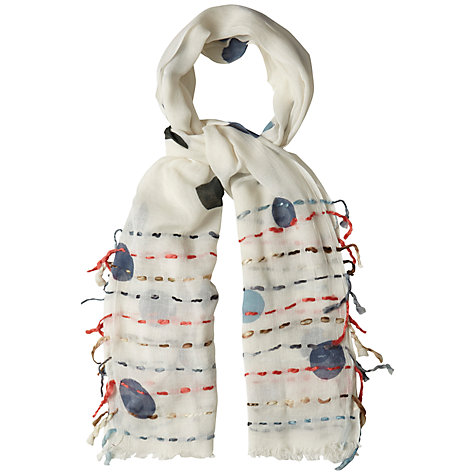 Buy White Stuff Big Spot Scarf, Off White Online at johnlewis.com