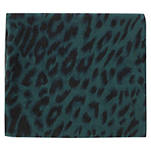 Buy Warehouse Two Colour Animal Scarf, Green Online at johnlewis.com