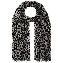 Buy Whistles Junya Spot Print Scarf, Black/Multi Online at johnlewis.com