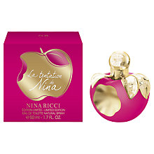 Buy Nina Ricci La Tentation de Nina Limited Edition Eau de Toilette, 50ml Online at johnlewis.com
