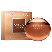 Buy Bvlgari Aqva Amara for Men Eau de Toilette, 50ml Online at johnlewis.com
