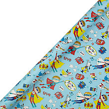 Buy Rachel Ellen Super Hero Rollwrap, 3m Online at johnlewis.com