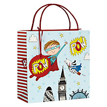 Buy Rachel Ellen Superhero Gift Bag, Medium Online at johnlewis.com