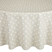 Buy John Lewis Polka Dot Wipe Clean Round Tablecloth, Dia.180cm Online at johnlewis.com
